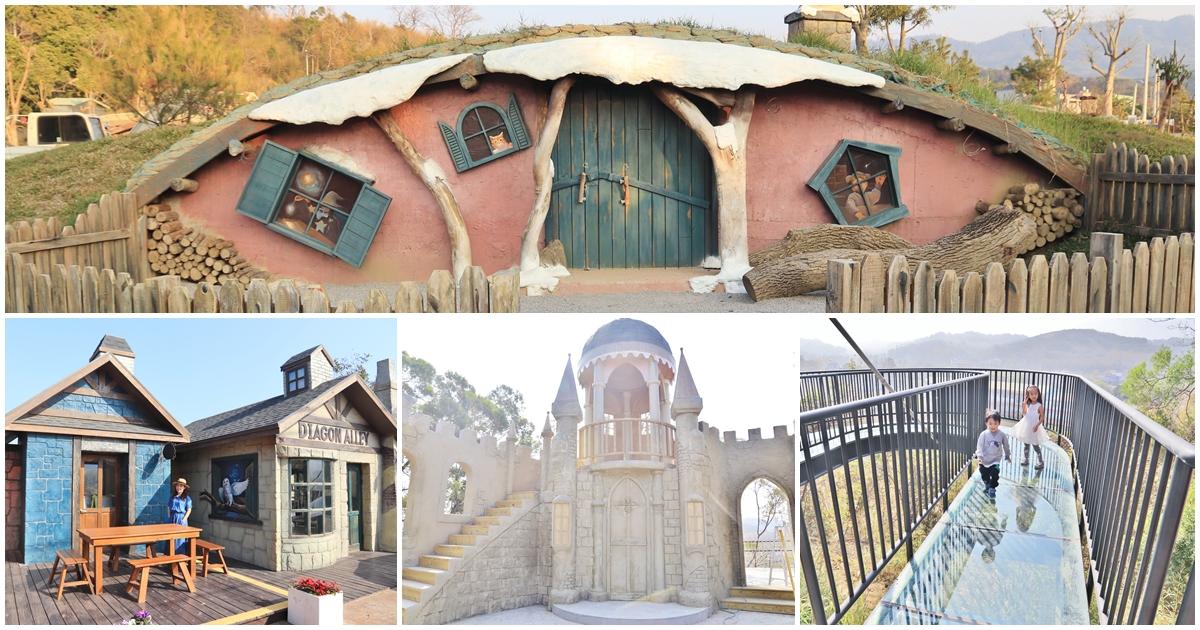 苗栗新景點》畫面太美!綠意山莊浪漫童話小鎮,紅色鳥居、森林屋,超美場景拍翻你的相機~