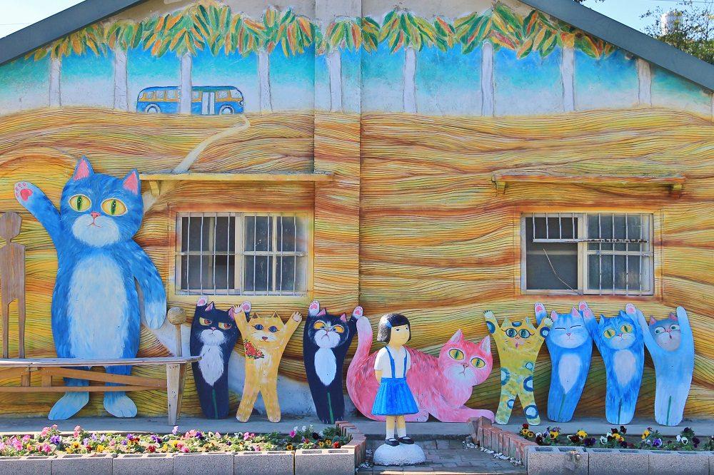 雲林新景點 | 埤頭繪本公園,走進魔法喵咪與大鯨魚的立體童書中~