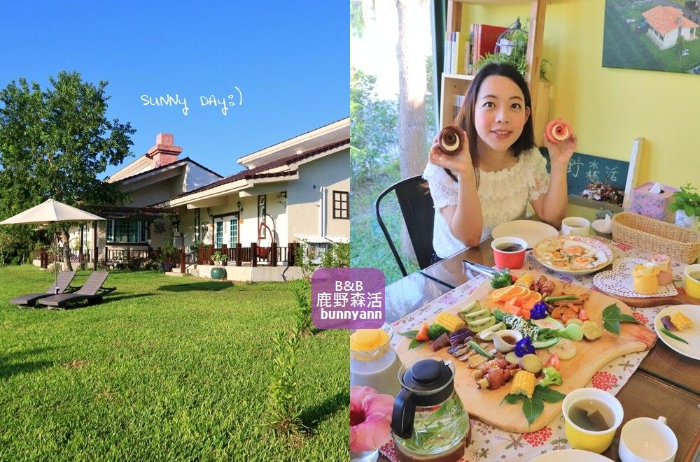 台東住宿推薦》sunny day!鹿野森活B&B,來自南法鄉村夢幻小屋~