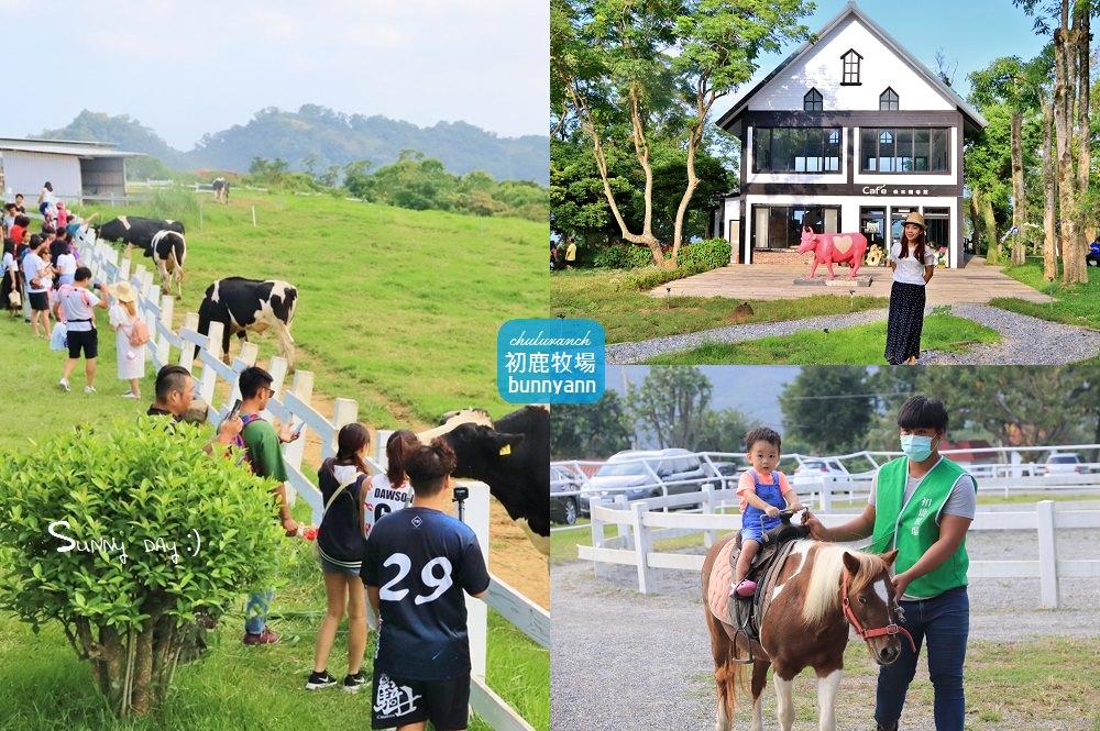 台東景點》初鹿牧場與可愛乳牛互動,暢玩滑草和森林遊戲區,親近自然與動物好所在~