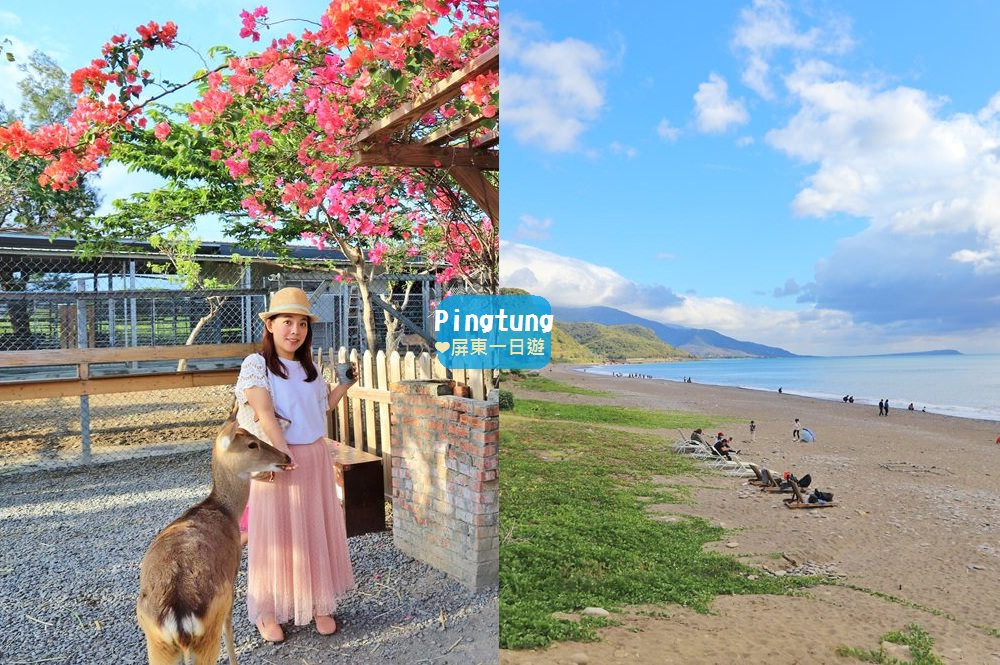 屏東景點》屏東一日遊可以這樣玩,精靈莊園、地中海咖啡、餵梅花鹿一次玩好玩滿~