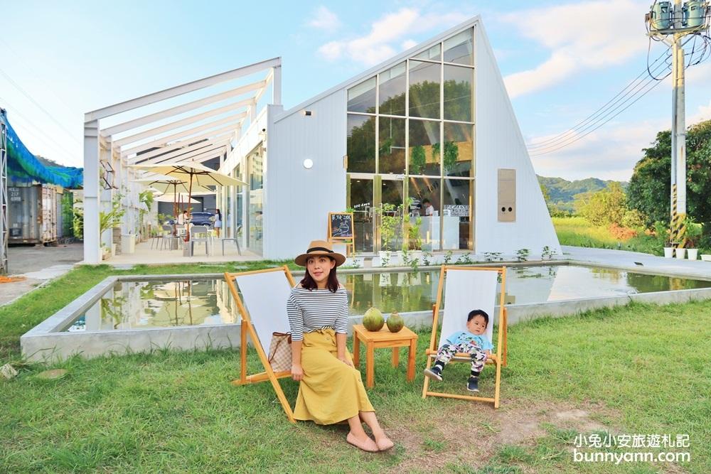 台中景點》美拍玻璃冰品屋!200 days東豐綠廊最新拍照點,濃郁花生方塊冰磚吃起來~