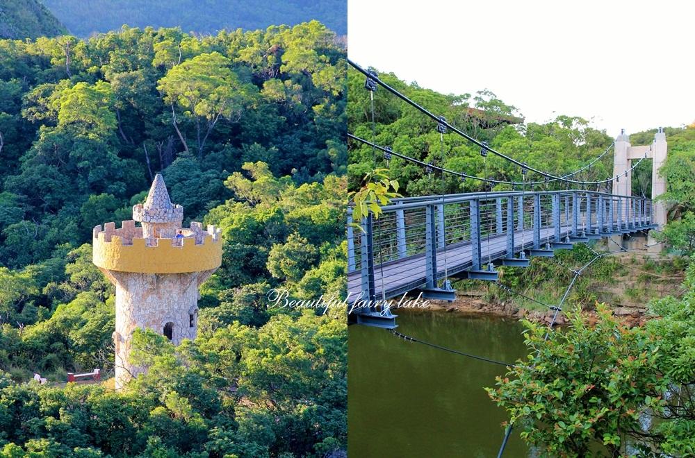 基隆》免費景點!夢幻長髮公主尖塔城堡,漫步情人湖畔好愜意,還能無死角眺望大海~