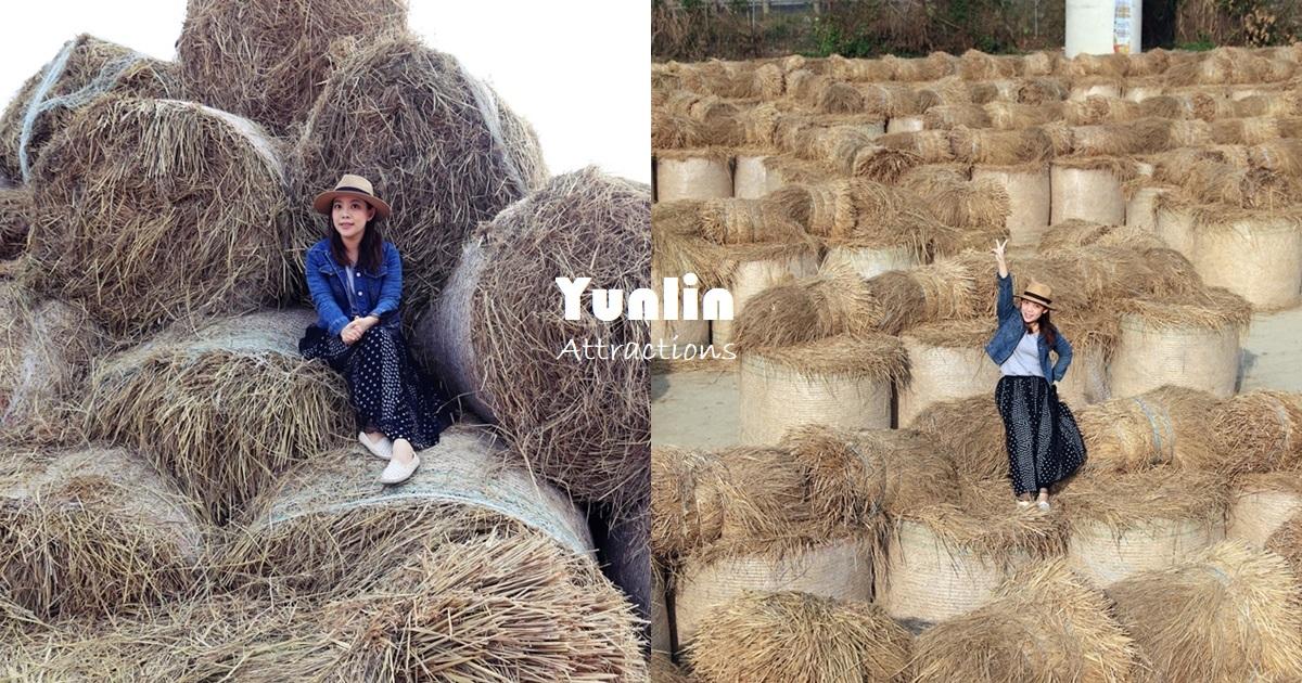 雲林》免費新景點!大埤稻草文化藝術季,全台最大稻草捲迷宮登場,600捆酥脆捲心酥療癒拍起來~